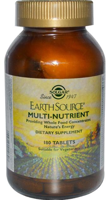 Solgar Earth Source 180 comprimidos