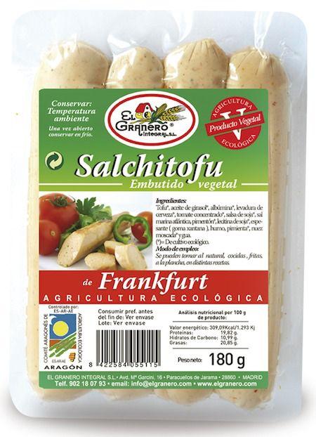 El Granero Integral Salchitofu Frankfurt Bio 180g