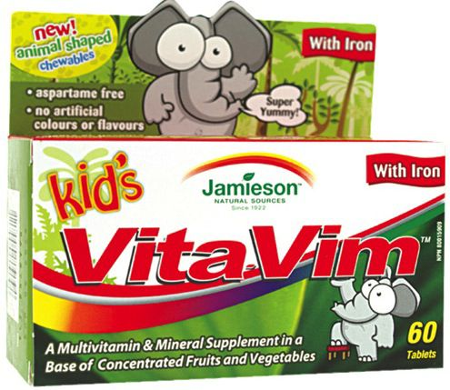Jamieson Vita Vim Kids 60 caramelos de goma