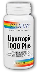 Solaray Lipotropic 1000 Plus 100 cápsulas