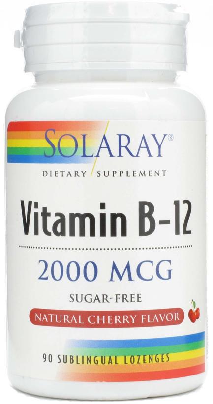 Solaray Vitamina B12 2000µg 90 comprimidos sublinguales