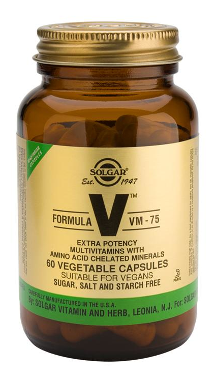 Solgar Fórmula VM 75  60 cápsulas vegetales