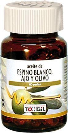 Tongil Acti-Oleo Aceite de Espino Blanco, Ajo y Olivo 60 perlas