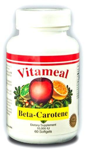 Vitameal Betacarotene 10.000ui 60 cápsulas